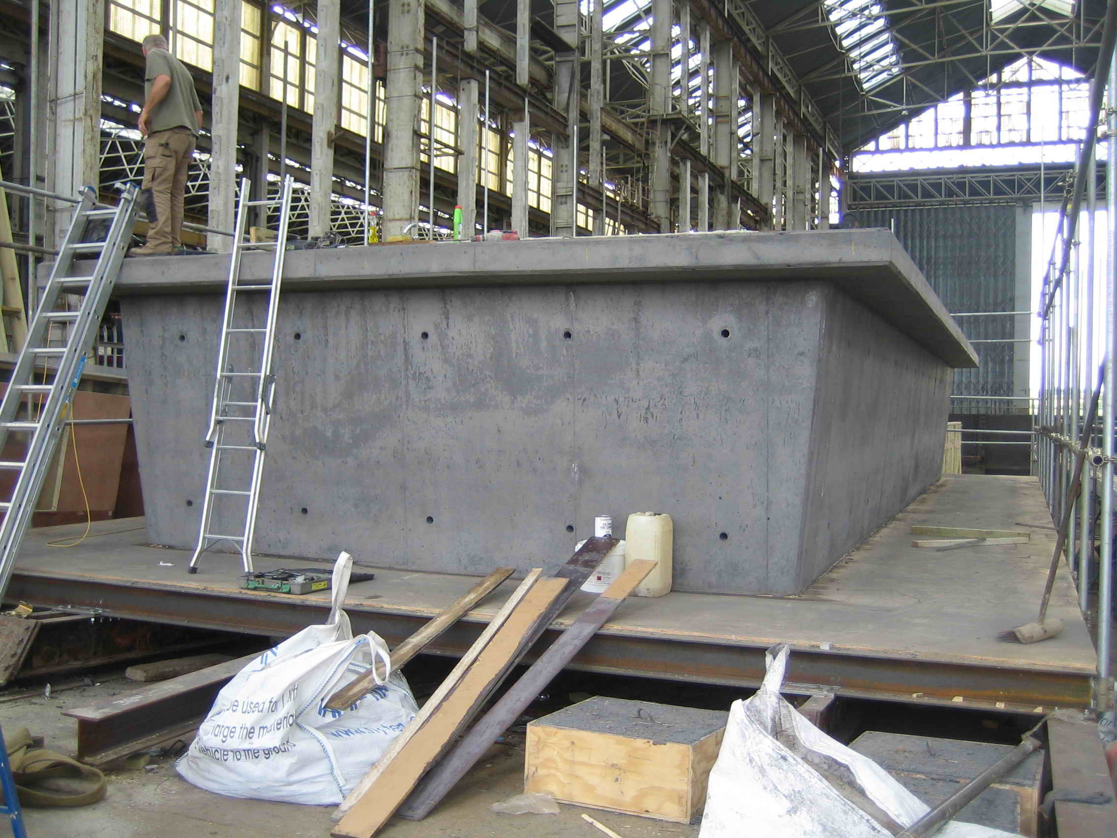 Our concrete hull HUBB® is produced in UK by Dirkmarine.